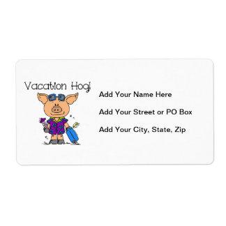 Vacation Hog Shipping Label