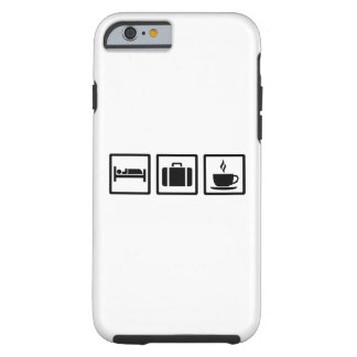 Vacation hotel luggage tough iPhone 6 case
