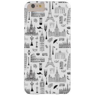 Vacation In Europe Pattern Barely There iPhone 6 Plus Case