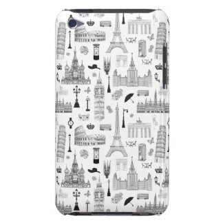 Vacation In Europe Pattern Case-Mate iPod Touch Case