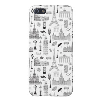 Vacation In Europe Pattern iPhone 5 Cases