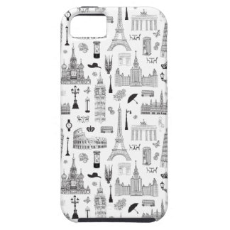 Vacation In Europe Pattern iPhone 5 Cover