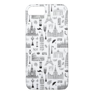 Vacation In Europe Pattern iPhone 8/7 Case