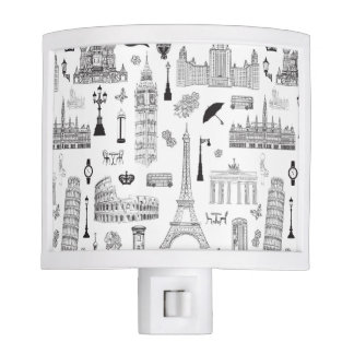 Vacation In Europe Pattern Nite Lite
