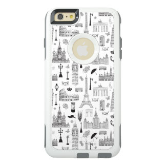 Vacation In Europe Pattern OtterBox iPhone 6/6s Plus Case