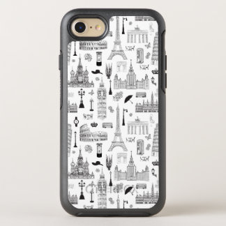 Vacation In Europe Pattern OtterBox Symmetry iPhone 8/7 Case