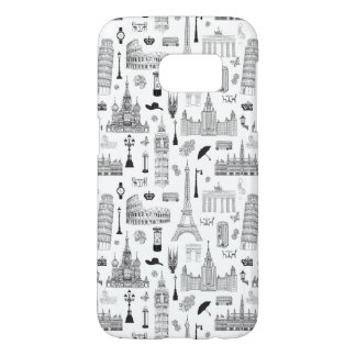 Vacation In Europe Pattern Samsung Galaxy S7 Case