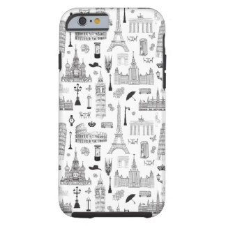 Vacation In Europe Pattern Tough iPhone 6 Case