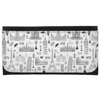 Vacation In Europe Pattern Wallet