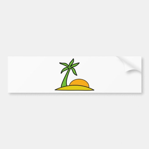 Vacation in the Beach Bumper Stickers