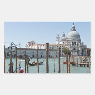 Vacation in Venice landscape rectangular sticker