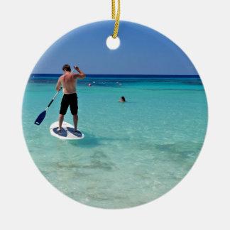 Vacation.JPG Round Ceramic Ornament