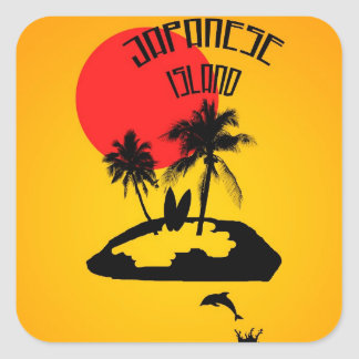 Vacation on an Japanese Island Square Sticker