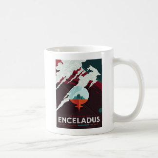 Vacation on Enceladus - Moon of Saturn Coffee Mug