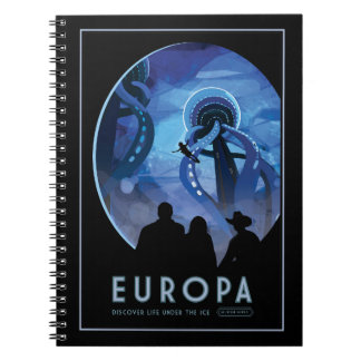 Vacation on Europa - Icy Moon of Jupiter Note Books