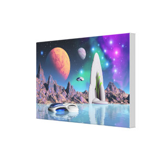 Vacation on planet zicon canvas print