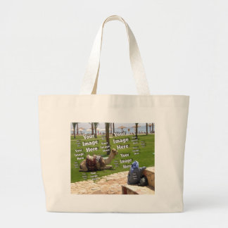 Vacation Photo Template Canvas Bags