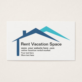 Vacation Rental Website Business Card