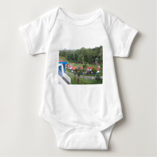 vacation retreat in costa rica baby bodysuit