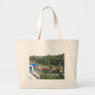 vacation retreat in costa rica large tote bag