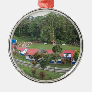 vacation retreat in costa rica metal ornament