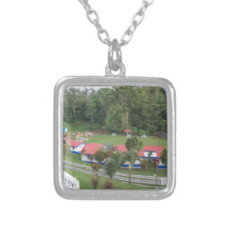 vacation retreat in costa rica silver plated necklace