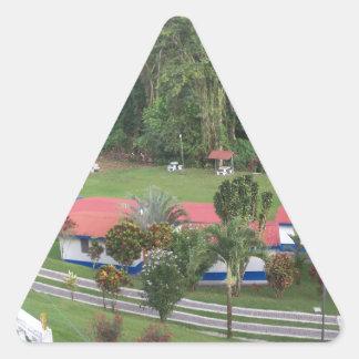 vacation retreat in costa rica triangle sticker