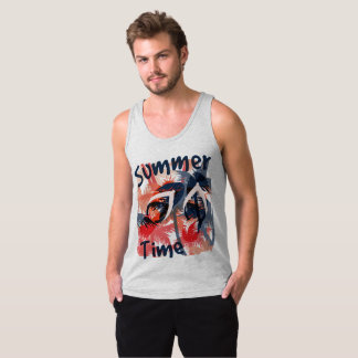 Vacation Summer Time Men's Tank Top T-shirt