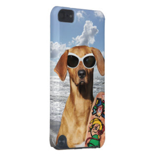 Vacation surfer dog, Rhodesian Ridgeback iPod Touch (5th Generation) Covers