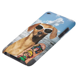 Vacation surfer dog, Rhodesian Ridgeback iPod Touch Cover
