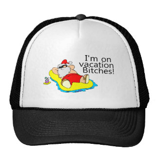 Vacationing Santa Claus Trucker Hat