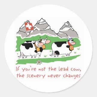 """Vache à avance 3"""" autocollant"""