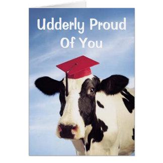 Vache à obtention du diplôme, Udderly fier de vous Carte De Vœux