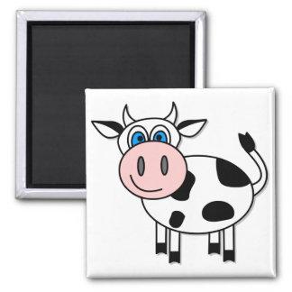 Vache heureuse - personnalisable ! magnet carré