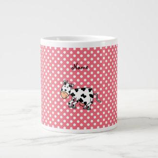 Vache mignonne nommée personnalisée mug jumbo