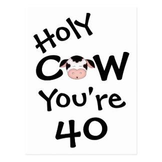 Vache sainte drôle vous êtes carte postale de 40