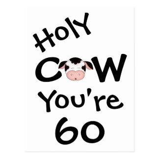 Vache sainte drôle vous êtes carte postale de 60