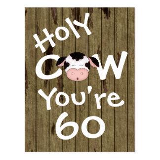 Vache sainte drôle vous êtes carte postale de 60 a