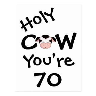 Vache sainte drôle vous êtes carte postale de 70