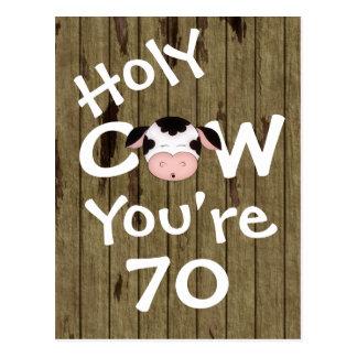 Vache sainte drôle vous êtes carte postale de 70 a