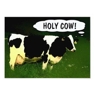 Vache sainte ! Nouvelle partie de pendaison de Carton D'invitation 12,7 Cm X 17,78 Cm