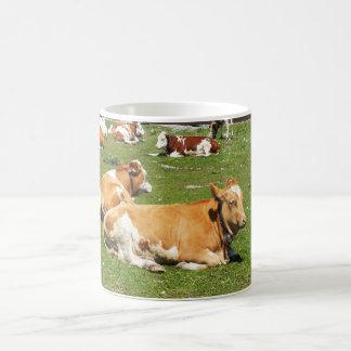 Vaches alpines mug blanc