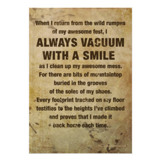 """""""VACUUM W/ SMILE"""" Awesome Poster (GRATITUDE)"""