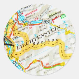 Vaduz, Liechtenstein Classic Round Sticker