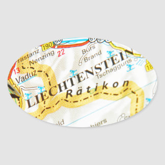 Vaduz, Liechtenstein Oval Sticker