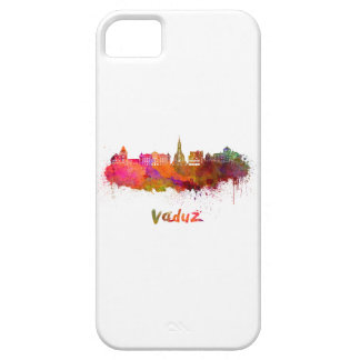 Vaduz skyline in watercolor case for the iPhone 5