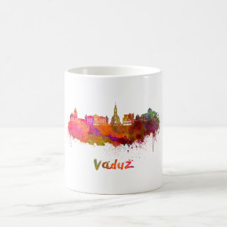 Vaduz skyline in watercolor coffee mug
