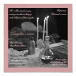 Vaftisi rose carton d'invitation  13,33 cm