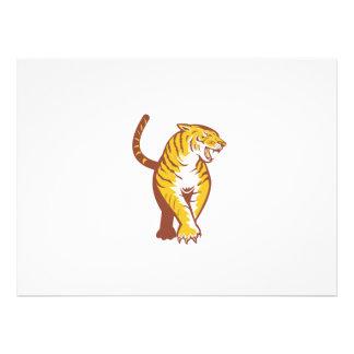 Vagabondage de tigre rétro bristols personnalisés