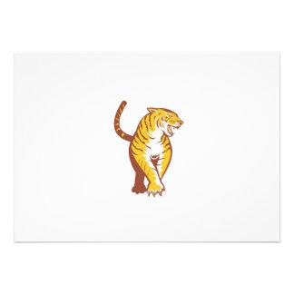 Vagabondage de tigre rétro invitation